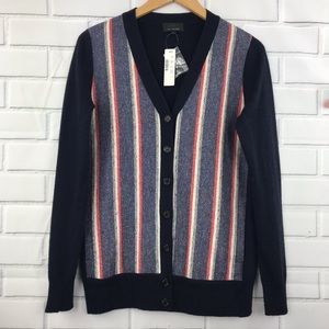 J. Crew Striped Woven Button Front Cardigan NWT